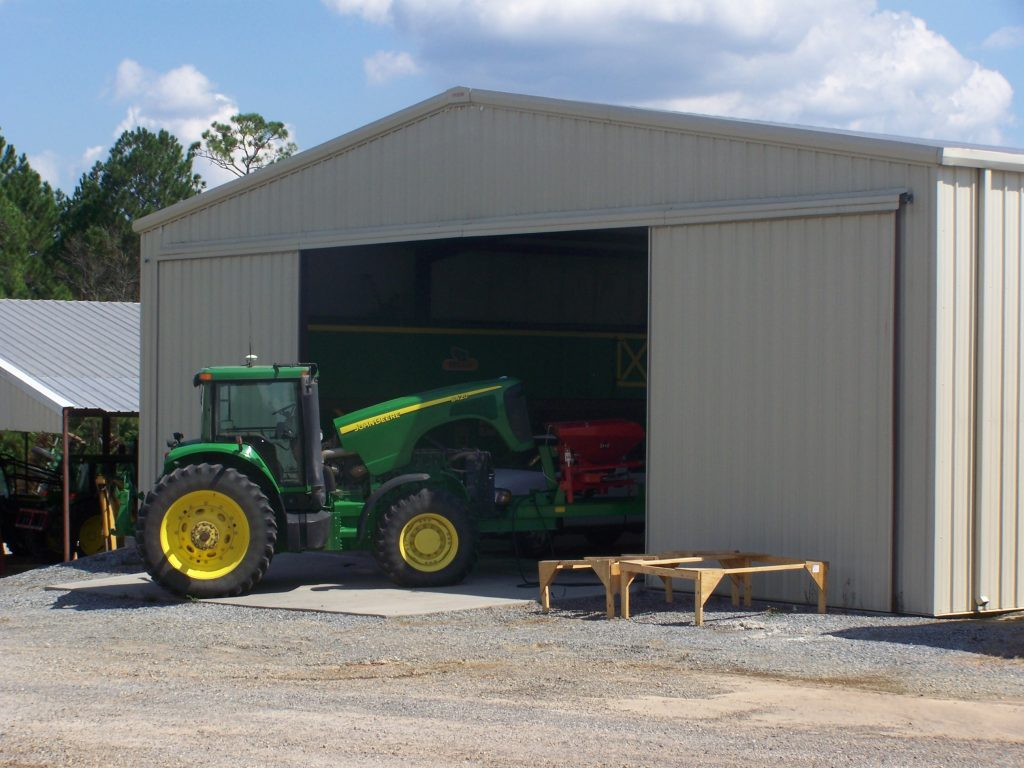 Enclosed Tractor Storage Building